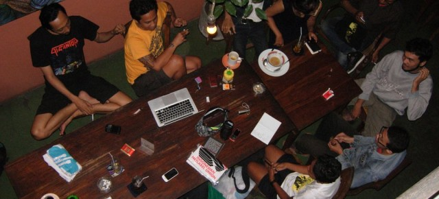Dokumentasi Meeting Indonesian Netaudio Festival di Kedai Kebun